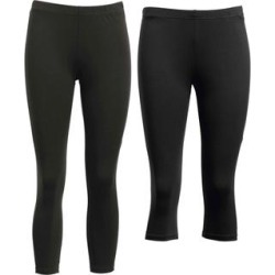 Plus Size Women's 2-Pack Leggings by ellos in Black (Size 3X) found on Bargain Bro Philippines from Roamans.com for $34.90