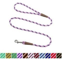 Mendota Products Small Snap Striped Rope Dog Leash, Lilac, 4-ft long, 3/8-in wide found on Bargain Bro India from Chewy.com for $14.99