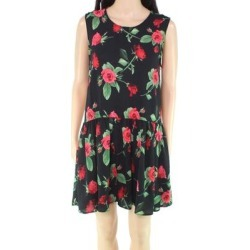 AX Paris Women's Dress Black Size 4 (UK 8) Sheath Floral-Print Pleated found on MODAPINS from Overstock for USD $14.99
