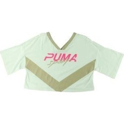 Puma Womens Xtreme Crop Crop Top Running Fitness (White - XS), Women's(cotton) found on Bargain Bro India from Overstock for $14.16