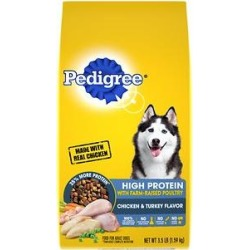 Pedigree High Protein Chicken & Turkey Flavor Adult Dry Dog Food, 3.5-lb bag