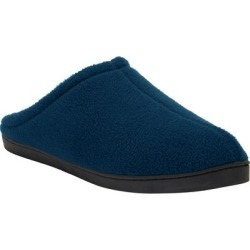 Extra Wide Width Fleece Clog Slippers by KingSize in Navy (Size 16 EW) found on Bargain Bro Philippines from Brylane Home for $21.99