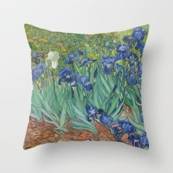 Throw Pillow   Vincent Van Gogh - Irises by Elegant Chaos Gallery - Cover (16