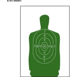 48 Pcs of B-29 Qualification Target 50 Foot Reduction Of B-27 Police Silhouette Green Size: 11.5