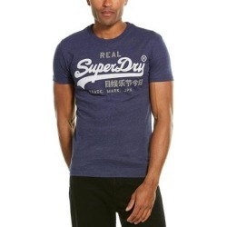 Superdry Premium Goods T-Shirt (XL), Men's, Blue found on Bargain Bro Philippines from Overstock for $15.60
