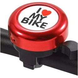 Tech Zebra Bike Accessories Red - Red 'I Love My Bike' Handlebar Bell found on Bargain Bro from zulily.com for USD $6.83
