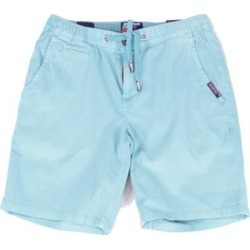 Superdry Mens Sunscorched Chino Shorts Blue Size 34 Drawstring Mid-Leg (34), Men's(cotton) found on Bargain Bro Philippines from Overstock for $32.98