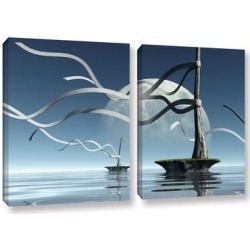 ArtWall Cynthia Decker's Ribbons, 2 Piece Gallery Wrapped Canvas Set found on Bargain Bro Philippines from Overstock for $83.49
