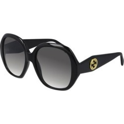 56mm Gradient Round Sunglasses - Black - Gucci Sunglasses found on Bargain Bro India from lyst.com for $390.00