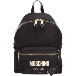 Logo Backpack - Black - Moschino Backpacks found on Bargain Bro from lyst.com for USD $344.28