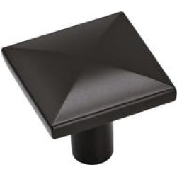 Extensity 1-1/8 in (29 mm) Length Flat Black Cabinet Knob - 10 Pack - 1.125 found on Bargain Bro India from Overstock for $37.49