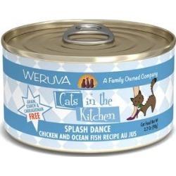Weruva Splash Dance Chicken & Ocean Fish Au Jus Canned Cat Food, 3.2-oz, 24ct