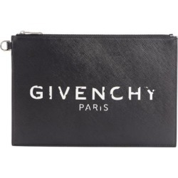 Medium Printed Coated-canvas Pouch - Black - Givenchy Clutches found on Bargain Bro from lyst.com for USD $376.20