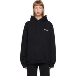 Black Logo Hoodie - Black - Vetements Sweats