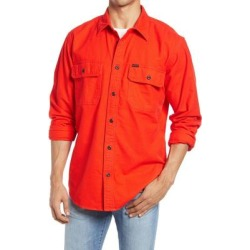 Field Solid Button-up Flannel Shirt - Red - Filson Shirts found on MODAPINS from lyst.com for USD $98.00