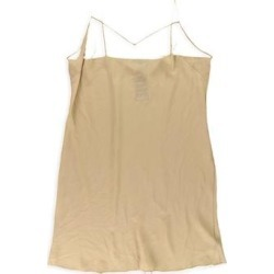 Ralph Lauren Womens Satin V-Neck Cami Tank Top, Beige, 20W found on Bargain Bro Philippines from Overstock for $83.55