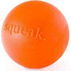 Planet Dog Orbee-Tuff Squeak Ball Tough Dog Chew Toy, Orange