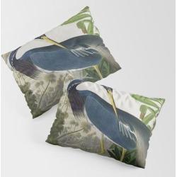 Pillow Sham | John James Audubon Louisiana Heron Painting by Restored Art And History - STANDARD SET OF 2 - Cotton - Society6 found on Bargain Bro from Society6 for USD $30.39