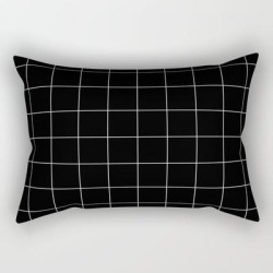 "Black Grid /// Pencilmeinstationery.com Rectangular Pillow by Pencil Me In - Small (17"" x 12"")"