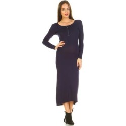 Maternity Penelope Maxi Dress - Navy found on Bargain Bro Philippines from Overstock for $40.38