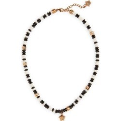 Medusa Beaded Pendant Necklace - Metallic - Versace Necklaces found on Bargain Bro from lyst.com for USD $437.00