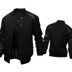 Mens Fashion Casual Slim Baseball Jacket (Black - xxl), Men's found on Bargain Bro Philippines from Overstock for $33.55
