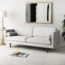 Safavieh Couture Hurley Mid-Century Sofa (Dark Blue) found on Bargain Bro from Overstock for USD $995.55