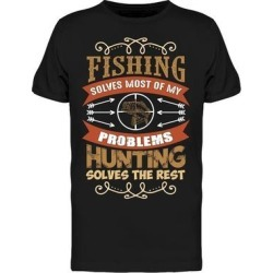 Fishing And Hunting Tee Men's -Image by Shutterstock found on Bargain Bro from Overstock for USD $11.39