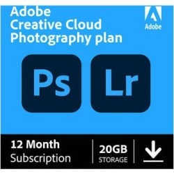 Adobe Creative Cloud Photography Plan with 20GB Cloud Storage (12-Month Subscript 65259312 found on Bargain Bro Philippines from B&H Photo Video for $119.88