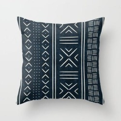 Couch Throw Pillow | Mud Cloth Indigo by Little Arrow Design Co. - Cover (16