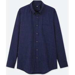 UNIQLO Men's Extra Fine Cotton Broadcloth Long-Sleeve Shirt, Navy, XXS found on Bargain Bro India from Uniqlo for $9.90