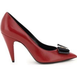 Anais Pumps With Bow - Red - Saint Laurent Heels found on MODAPINS from lyst.com for USD $593.00