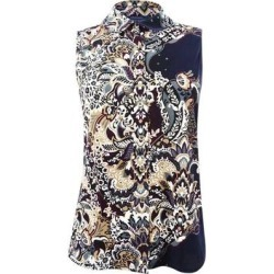 Tommy Hilfiger Women's Sleeveless Printed Top - Midnight/Multi found on Bargain Bro from Overstock for USD $21.65