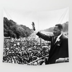 Martin Luther King March On Washington Speech Wall Hanging Tapestry by Great Prints Store - 51