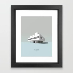 Framed Art Print | Villa Savoye - Le Corbusier by The_conceptist - Vector Black - X-Small-10x12 - Society6 found on Bargain Bro India from Society6 for $35.19