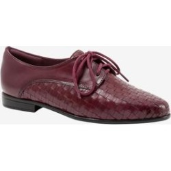 Women's Lizzie Oxford by Trotters in Black Cherry (Size 12 M) found on Bargain Bro India from Woman Within for $109.99