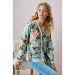 Women's Montage Shirt by Soft Surroundings, in Patterned Paradise size S (6-8)