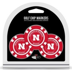 Nebraska Huskers Golf Chip 3-Pack Set found on Bargain Bro India from Fanatics for $14.99
