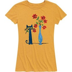 Instant Message Women's Women's Tee Shirts HEATHER - Heather Golden Meadow Pete With Red Flowers Relaxed-Fit Tee - Women & Plus