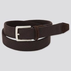 UNIQLO Men's Suede Combination Stretch Belt, Brown found on Bargain Bro India from Uniqlo for $19.90