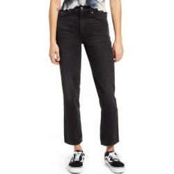 High Waist Ankle Straight Leg Jeans - Black - Lee Jeans Jeans found on MODAPINS from lyst.com for USD $98.00