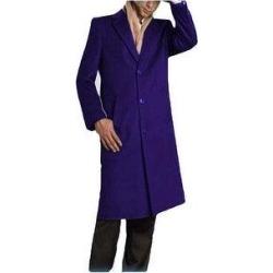 Men's Blue Full Length Topcoat - Winter Coat By Albertonardoni.com/ Alberto narodni designer (42R - Indigo)(cashmere) found on Bargain Bro Philippines from Overstock for $199.00