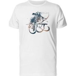 Lord Rama Shiny Grunge Tee Men's -Image by Shutterstock (L), White found on MODAPINS from Overstock for USD $13.99