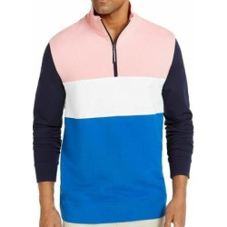 Club Room Mens Sweater Pink Blue Size 2XL Colorblock 1/2 Zip Sweatshirt found on Bargain Bro Philippines from Overstock for $23.98