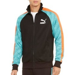 Puma Mens Activewear Jacket Black Size Small S Track Colorblocked (S), Men's(polyester) found on Bargain Bro from Overstock for USD $26.66