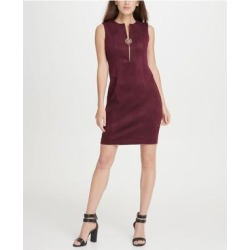 DKNY Burgundy Sleeveless Above The Knee Dress 12 (Burgundy - 12), Women's, Red(knit, Solid) found on Bargain Bro from Overstock for USD $27.34
