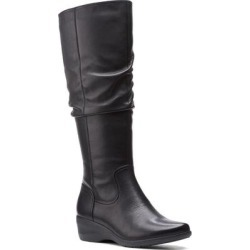 Clarks Rosely Knee High Leather Boot - Black - Clarks Boots found on Bargain Bro India from lyst.com for $120.00