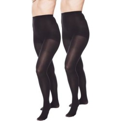 Plus Size Women's 2-Pack Opaque Tights by Comfort Choice in Black (Size A/B) found on Bargain Bro Philippines from Ellos for $14.99