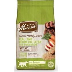 Merrick Classic Healthy Grains Dry Dog Food Real Lamb + Brown Rice Recipe with Ancient Grains, 25-lb bag