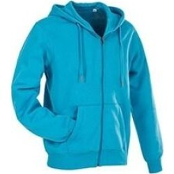 Stedman Mens Active Zip Hood (Hawaii Blue - XL), Men's(cotton) found on Bargain Bro from Overstock for USD $44.26
